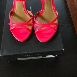 Ann Taylor patent sandal